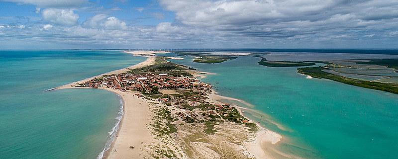 Município localizado no litoral potiguar é um anel rodeado por dunas e piscinas naturais desérticas