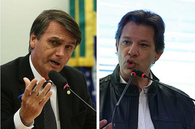 Según el instituto Datafolha, Bolsonaro tiene el 48% de intención de voto y Haddad el 39%