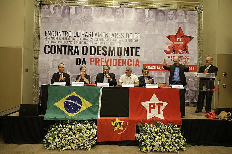 Líderes partidários apresentam programa durante seminário no Centro Internacional de Convenções do Brasil, na capital federal