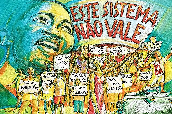O Grito denuncia a injustiça e a desigualdade. O Grito anuncia luta, resistência, democracia e soberania.