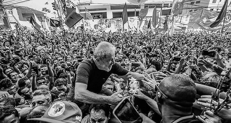 Petista fez último ato público antes da prisão na sede do Sindicato dos Metalúrgicos de São Bernardo do Campo (SP)