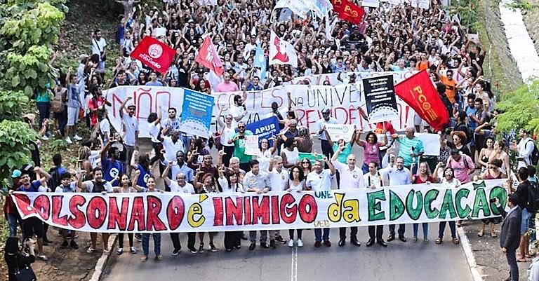 Atos pela Educação aconteceram em várias partes do Brasil ao longo de 2019.