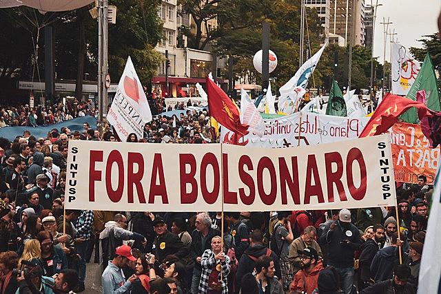 Protesta en la Avenida Paulista en la ciudad de São Paulo. Sugún un conteo del CNTE, hubo protestas en 208 municipios brasileños