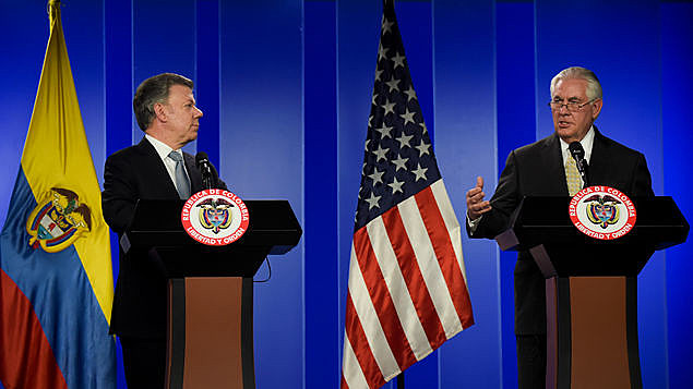 Presidente da Colômbia e secretário de Estado dos EUA discutem ações contra a Venezuela