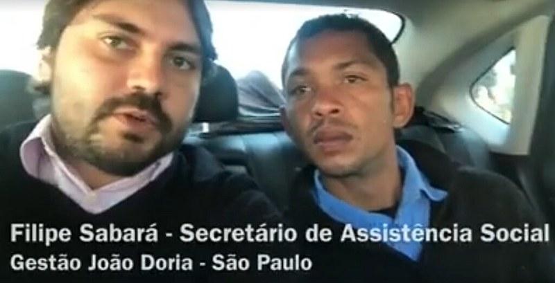 Filipe Sabará pagou passagem para morador de rua voltar para sua cidade natal no Maranhão