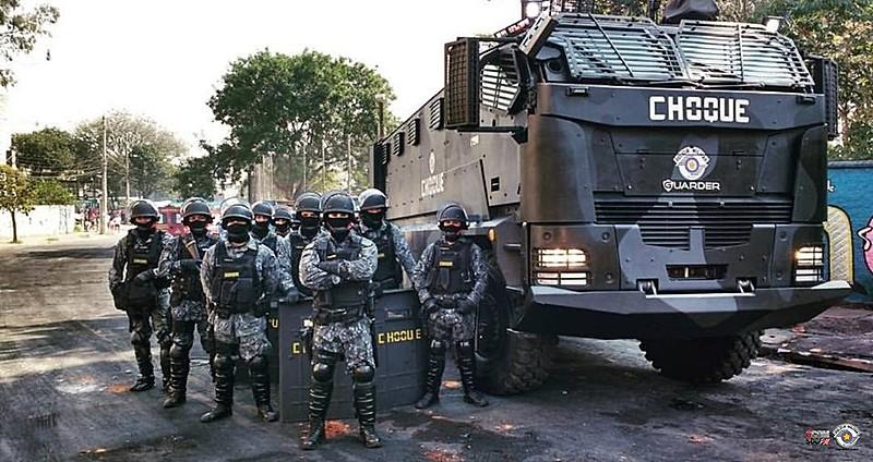Imagem postada no Facebook com que o comando da PM anunciou início de operações em Paraisópolis