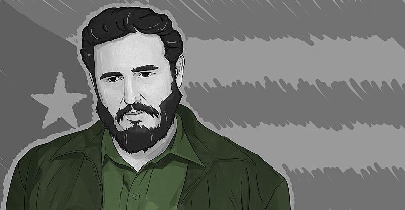 O líder da Revolução Cubana