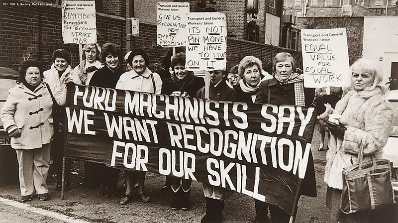 Trabalhadoras da Ford em Dagenham, Reino Unido