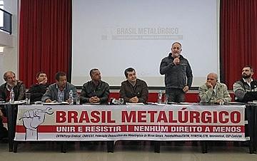 Reunião no Sindicato dos Metalúrgicos do ABC: dirigentes de diversas regiões e também de outros setores