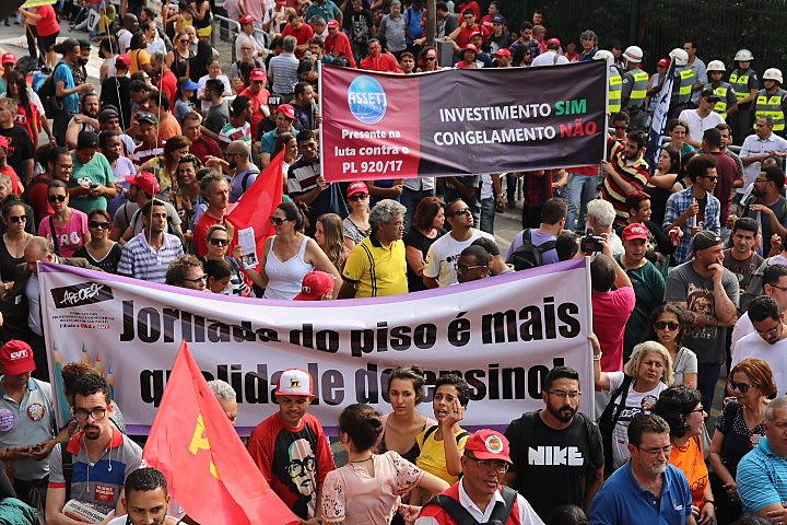 Categoria protestou em frente ao Palácio dos Bandeirantes nesta sexta-feira (10)