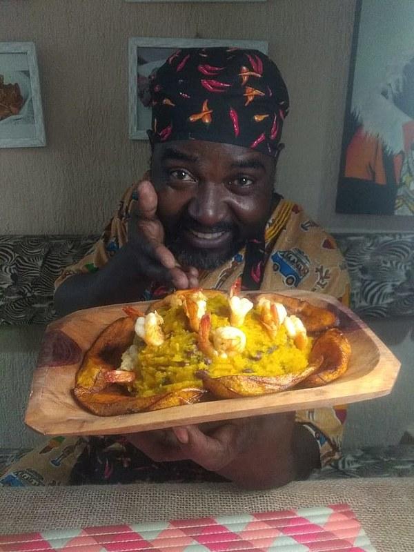 Feliz Rafferte, imigrante africano era engenheiro e se tornou chef de cozinha quando chegou ao Brasil