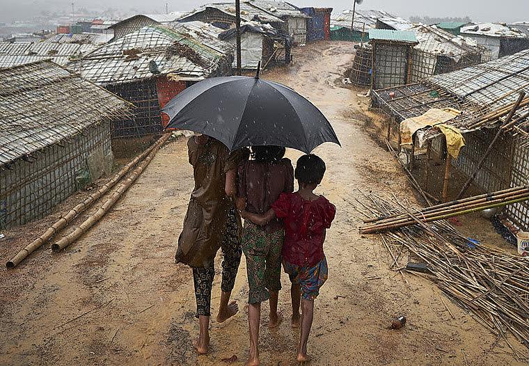Assentamento de refugiados de Kutupalong, em Cox's Bazar, há alguns meses