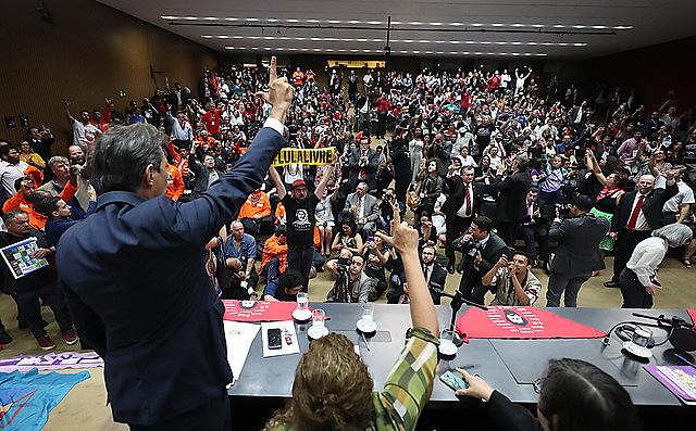 Evento de lançamento da Frente Popular e Parlamentar em Defesa da Soberania Nacional na Câmara dos Deputados