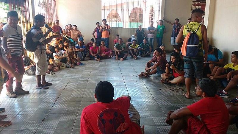 Está é a segunda vez que os indígenas ocupam a sede da Secretaria Especial de Saúde Indígena  para cobrar melhorias no atendimento médico