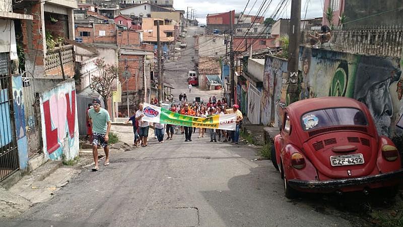Manifestação no Jardim Flavia