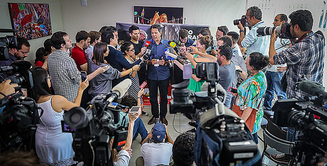 Haddad concede rueda de prensa en la tarde de este miércoles (3)