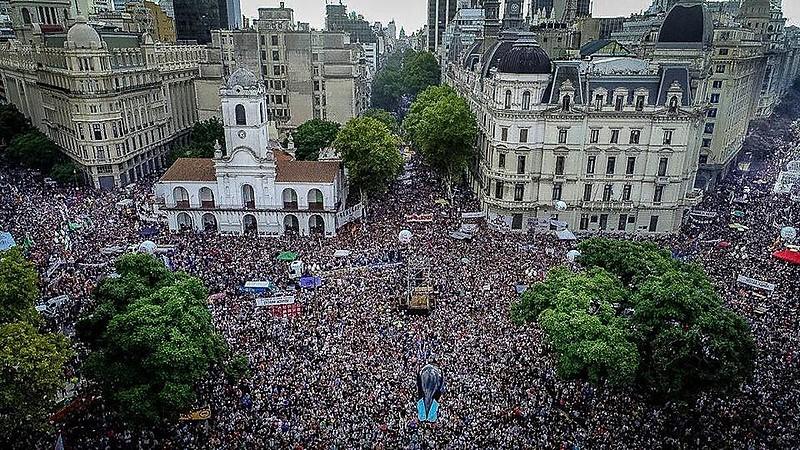 Marcha do Dia Nacional da Memória pela Verdade e Justiça, em Buenos Aires, capital da Argentina