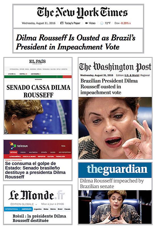 Principais jornais internacionais criticam impeachment de Dilma