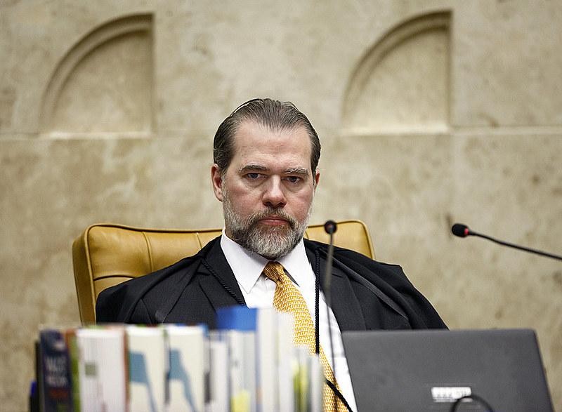 Dias Toffoli, presidente do STF, durante sessão plenária que discutiu validade da Lei das Estatais
