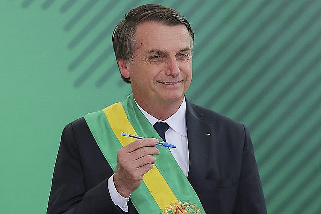 Brazilian president Jair Bolsonaro took office on Jan. 1, 2019