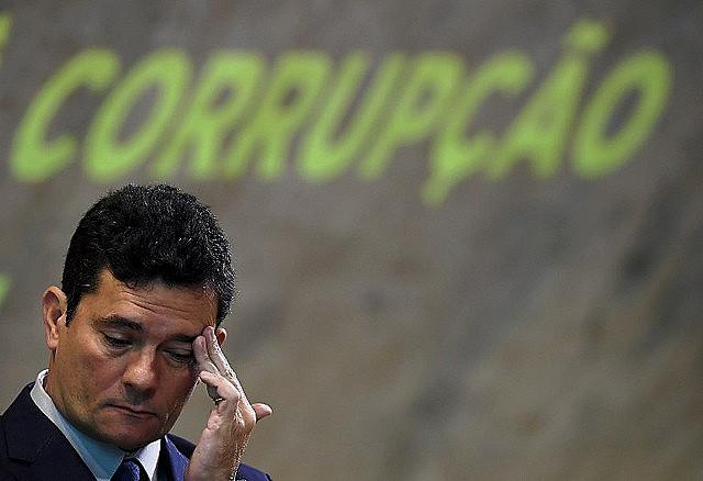 Sergio Moro participa del Simposio Nacional de Combate a la Corrupción en el Centro Cultural FGV, Rio de Janeiro, en noviembre de 2018