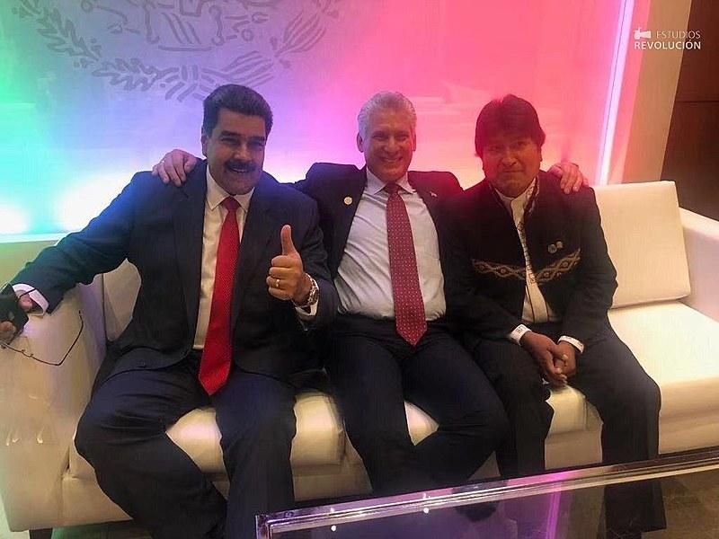Nicolás Maduro, Díaz-Canel e Evo Morales assistem à posse de AMLO e falam em retomada de integração