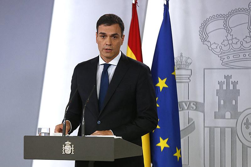 O presidente do Governo, Pedro Sánchez, compareceu em La Moncloa para anunciar a composição de seu gabinete.