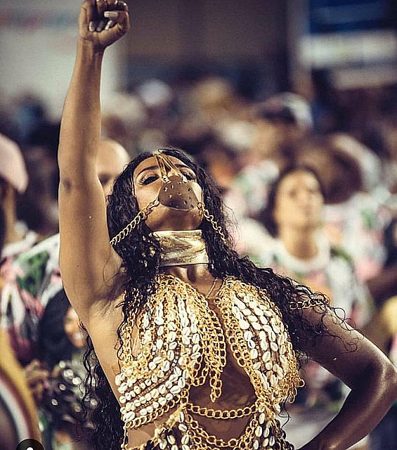 Mangueira Samba School parade in Rio honored black and indigenous heroes who have been erased from the official Brazilian history