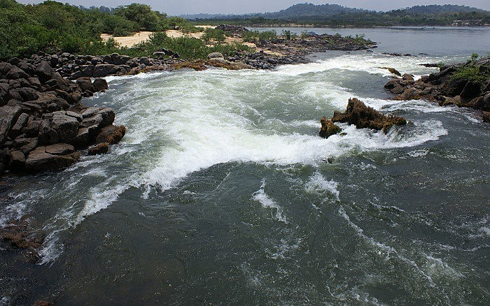Cachoeiras da Volta Grande do Rio Xingu, com a conclusão das obras da hidrelétrica terá sua vazão reduzida