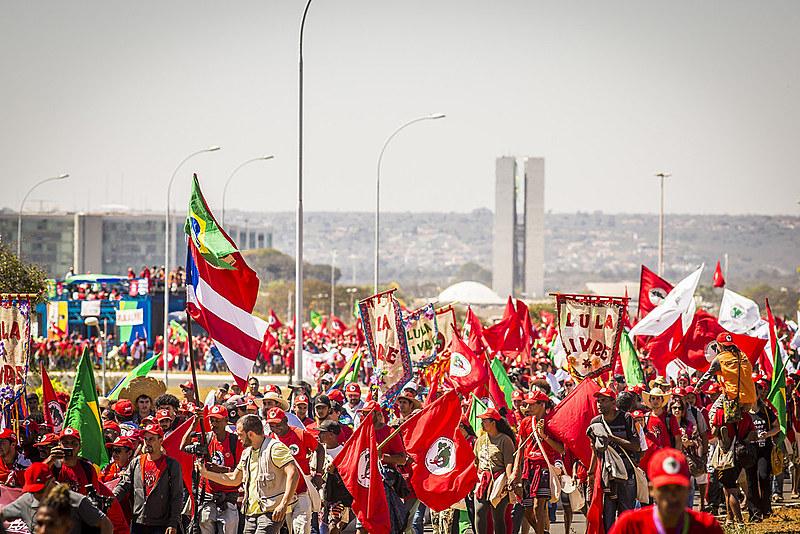 Marcha Lula Livre, no dia 15 de agosto do ano passado
