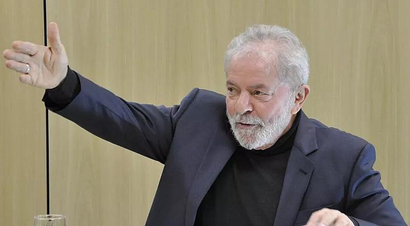 Ex-presidente Lula durante ultima entrevista concedida a TV 247