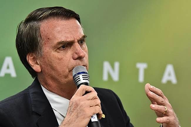 Jair Bolsonaro durante reunião com equipe do governo de transição, no Centro Cultural Banco do Brasil, em Brasília (DF)