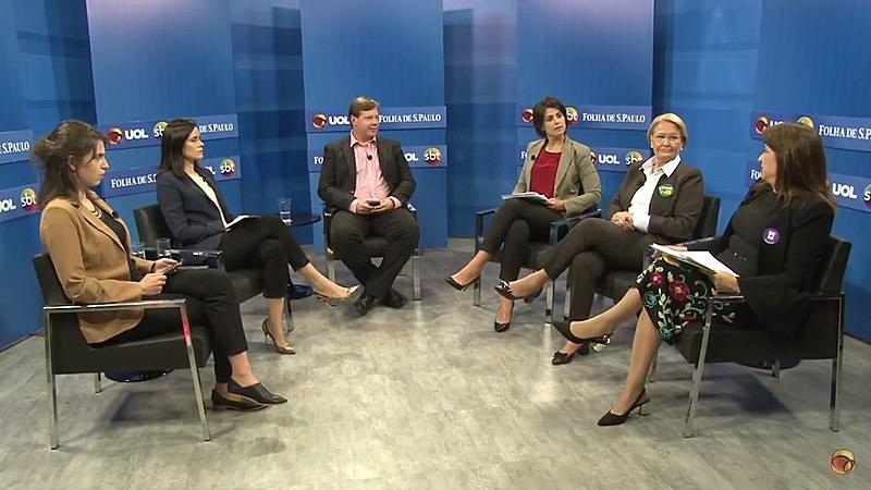 Debate foi realizado pelo grupo UOL, STB e o jornal Folha de São Paulo com três candidatas a vice-presidente