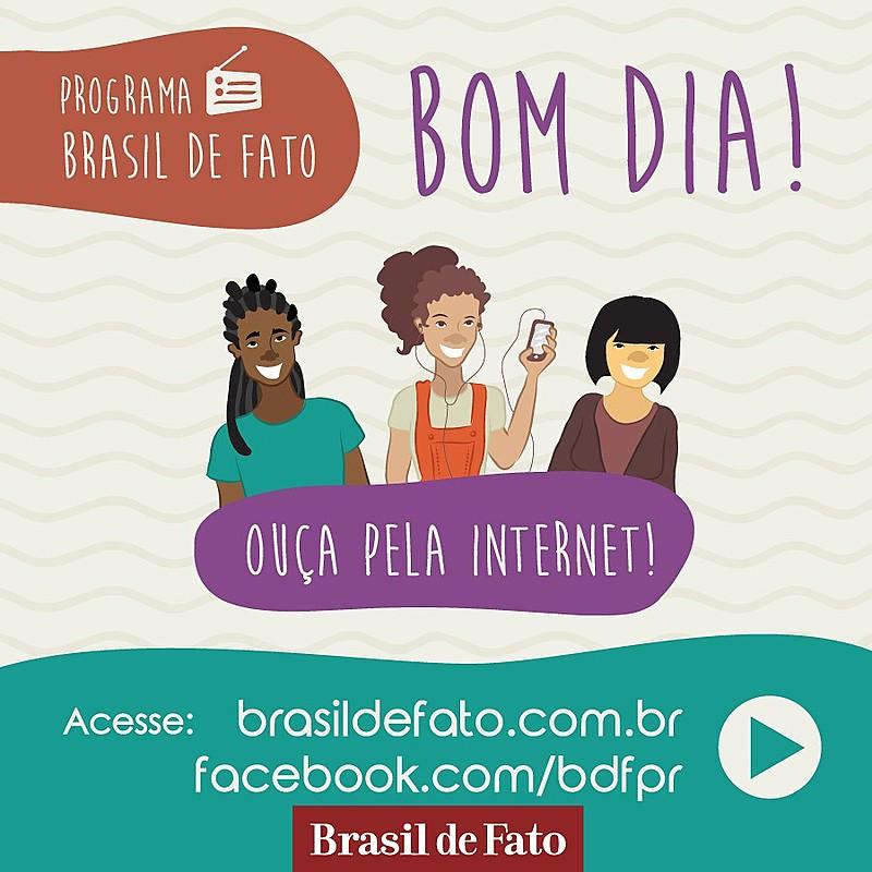 O programa Brasil de Fato também é transmitido por rádios nos estados de SP, PE, MG e RJ / Divulgação