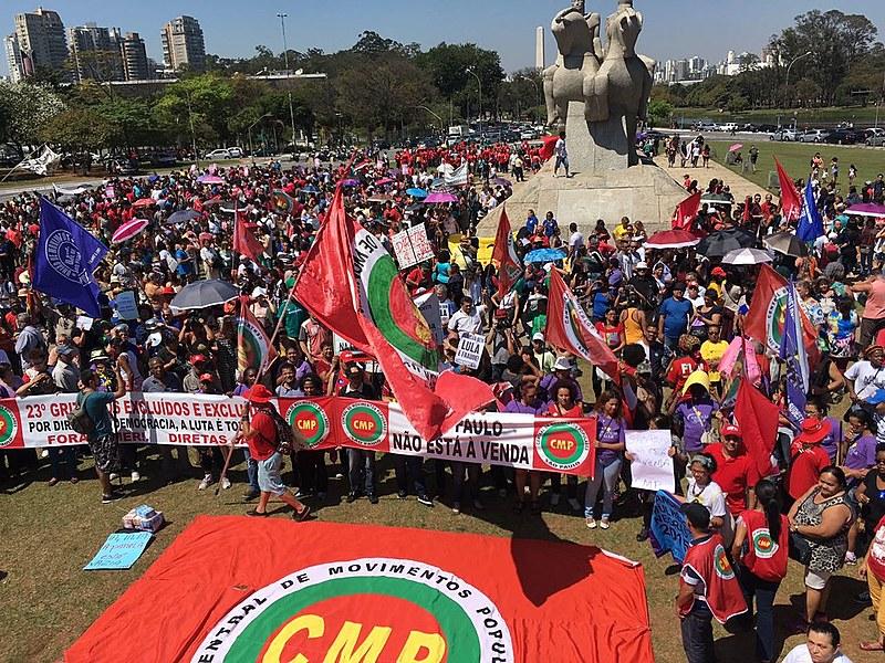 Ato em São Paulo se encerrou no Monumento das Bandeiras, próximo ao Parque do Ibirapuera