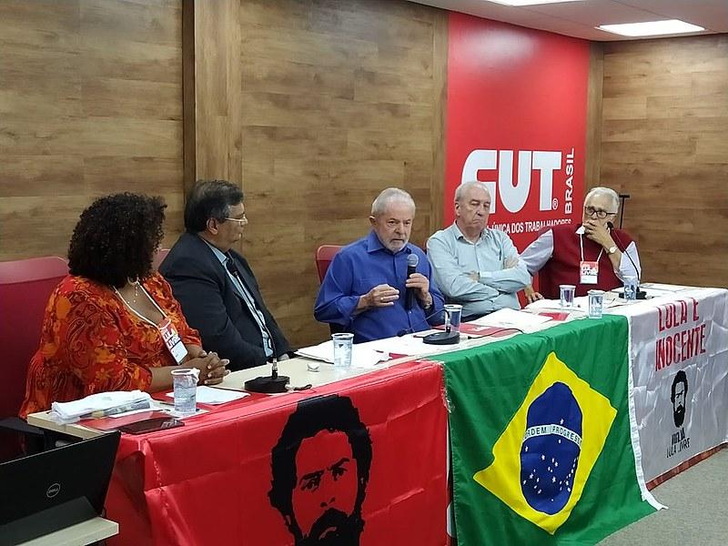 O ex-presidente Lula participou da reunião nacional da Campanha Lula Livre, em São Paulo