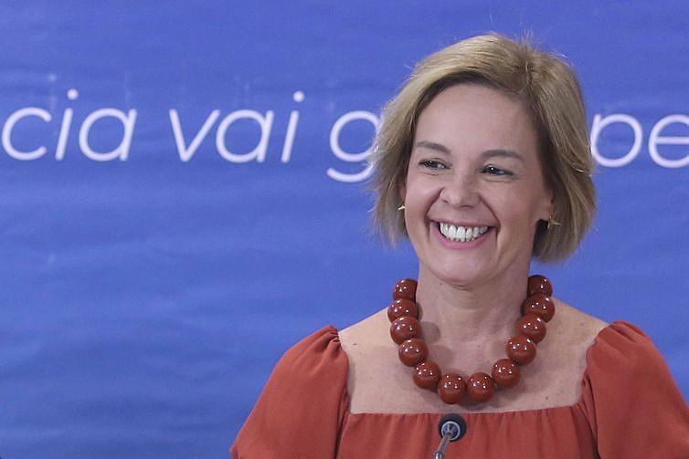 A professora Vandete Pereira Lima, durante lançamento da 12ª edição do Prêmio Professores do Brasil.