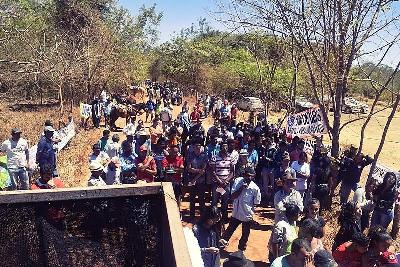 Manifestação aconteceu nesta segunda (11), Dia do Cerrado