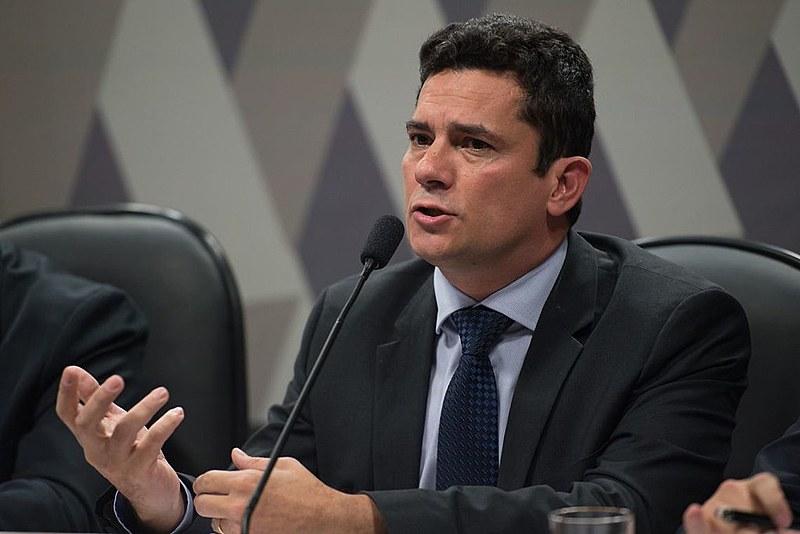Sérgio Moro, ministro da Justiça, durante audiência na Comissão de Constituição e Justiça do Senado