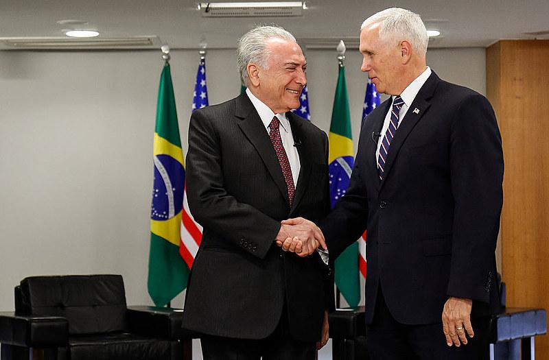 O golpista de 2016 foi cobrado por Pence para ser mais duro contra o governo eleito da Venezuela