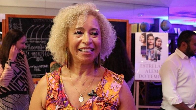"""Sonia Guimarães no lançamento do filme """"Estrelas Além do Tempo"""""""