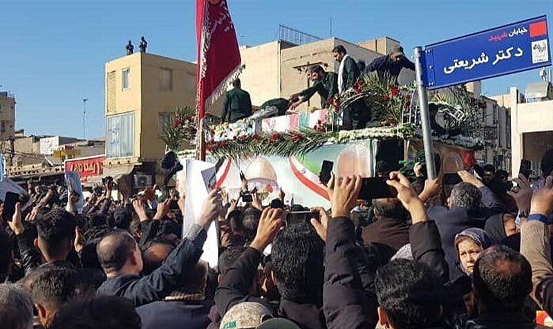 Cortejo começou pela cidade de Ahvaz e chega nesta segunda-feira à capital Teerã