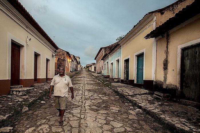 Ladeira do Jacaré, no centro da cidade de Alcântara, que concentra grande parte dos quilombolas do país