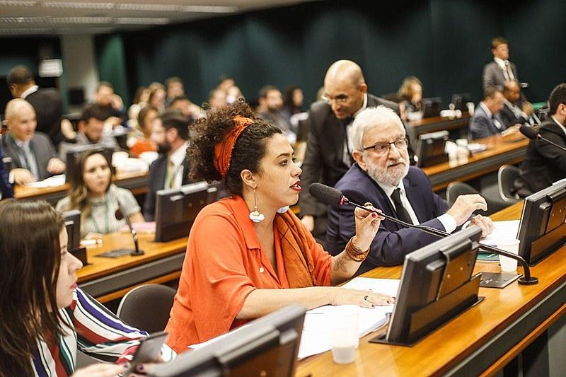 Parlamentares durante debate da reforma da Previdencia na CCJ da Câmara dos Deputados