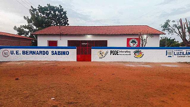 Unidad Escolar Bernardo Sabino, en el asentamiento Palmares, en Luzilândia, en el estado de Piauí