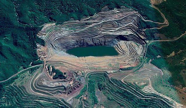 Vista aérea de Barão de Cocais: la ruptura de la represa puede ocurrir entre 19 y 25 de mayo según la minera Vale