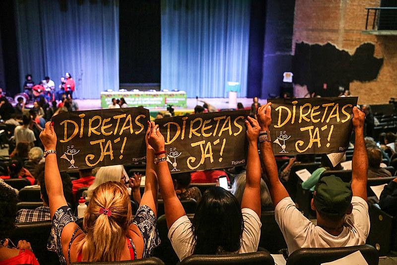 Ato Pelas Diretas Já e Lançamento do Plano Popular de Emergência, organizado pela Frente Brasil Popular