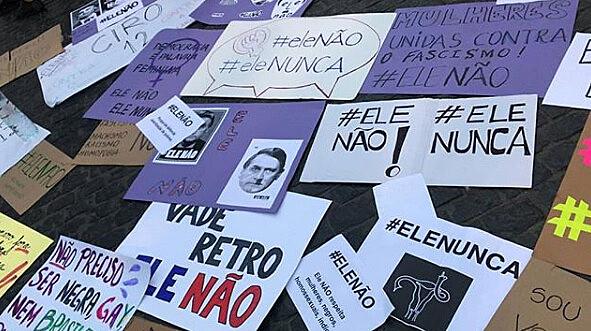 Protesto #EleNão, no final de setembro, ocorreu em diversas cidades do Brasil e do mundo