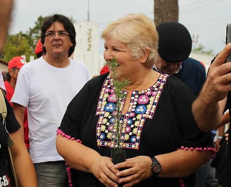 Aleida Guevara foi ao Centro de Formação Marielle Vive, na Vigília Lula Livre, e destacou a necessidade de organização popular
