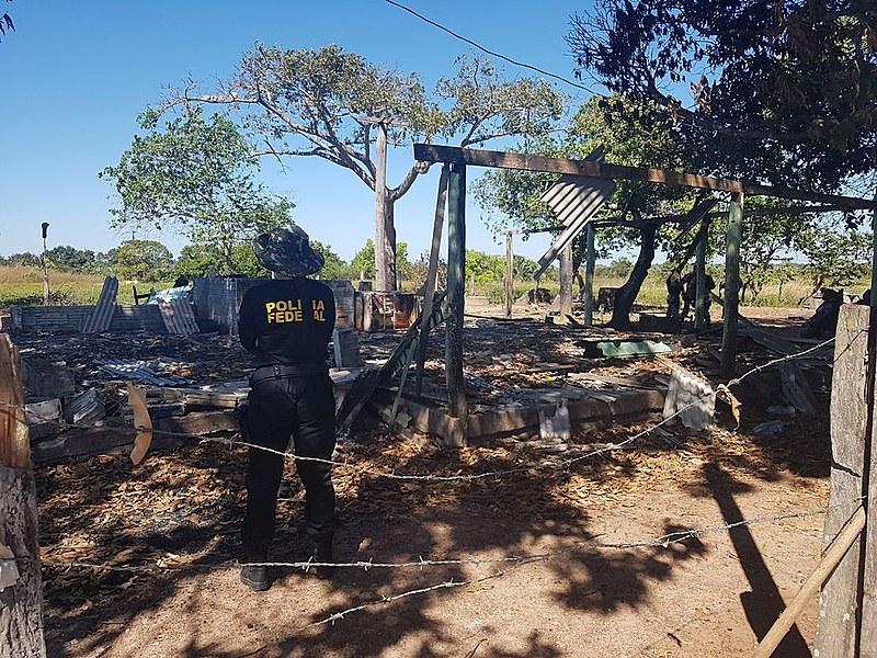 Reconstituição da chacina que matou 10 pessoas na fazenda Santa Lúcia, em Pau D'Arco, no sudeste do Pará